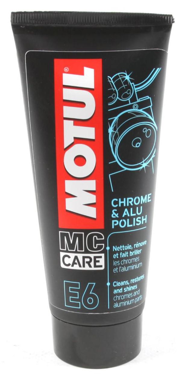 Полироль для хромированных поверхностей MOTUL E6 CHROME & ALU POLISH (100мл)