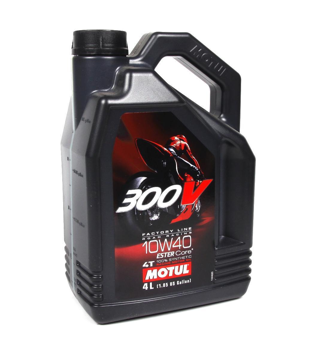 Моторное масло MOTUL 300V FACTORY LINE ROAD RACING 10W40 4T (4л)