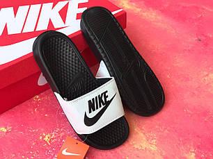 Сланцы/шлепки Nike женские(черно-белые)/ шлепки/ тапки найк/шлепанцы/тапочки, фото 2