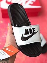 Сланцы/шлепки Nike женские(черно-белые)/ шлепки/ тапки найк/шлепанцы/тапочки, фото 3