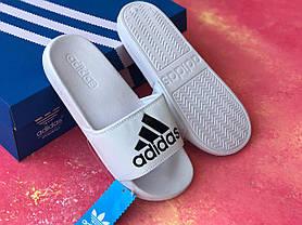 Сланцы/шлепки Adidas (белые)/шлепанцы/Adidas/ адидас/, фото 3