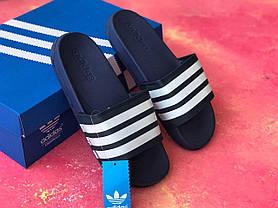 Сланцы/шлепки Adidas /шлепанцы/ адидас/темно-синие, фото 3