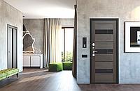 Двері Вхідні ( ISOTERMA 125мм Срібло/Темний кипарис Царга
