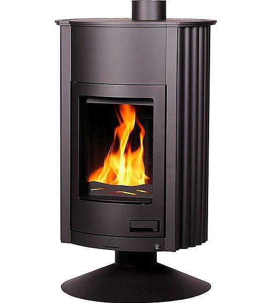 Отопительная печь-камин длительного горения Masterflamme Grande II (черный)