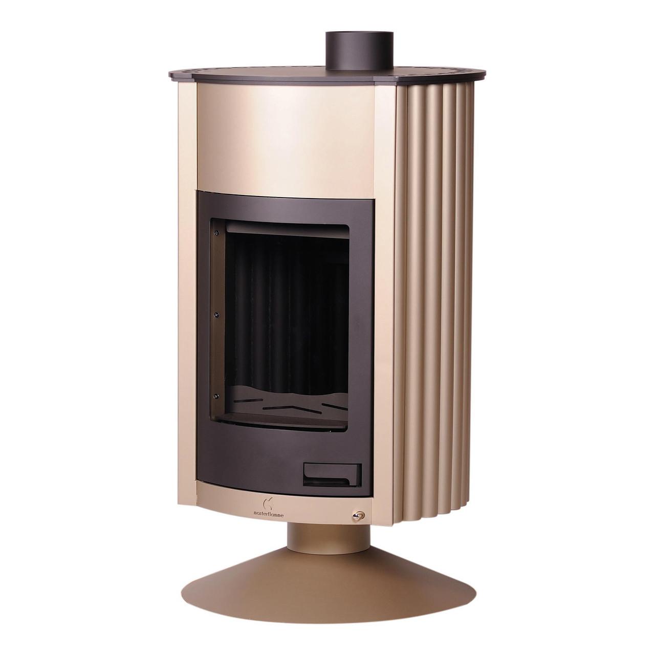 Отопительная печь-камин длительного горения Masterflamme Grande II (кремовый металлик)