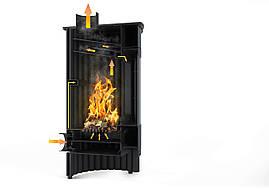 Отопительная печь-камин длительного горения Masterflamme Grande II (кремовый металлик), фото 2