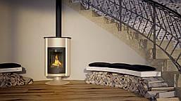 Отопительная печь-камин длительного горения Masterflamme Grande II (кремовый металлик), фото 3