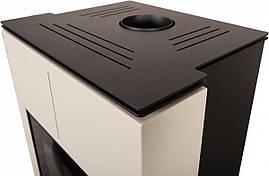 Отопительная печь-камин длительного горения AQUAFLAM VARIO SAPORO (кремовый), фото 2