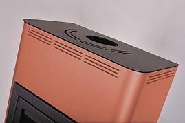 Отопительная печь-камин длительного горения AQUAFLAM 17 (водяной контур, ручная рег, бронза), фото 2