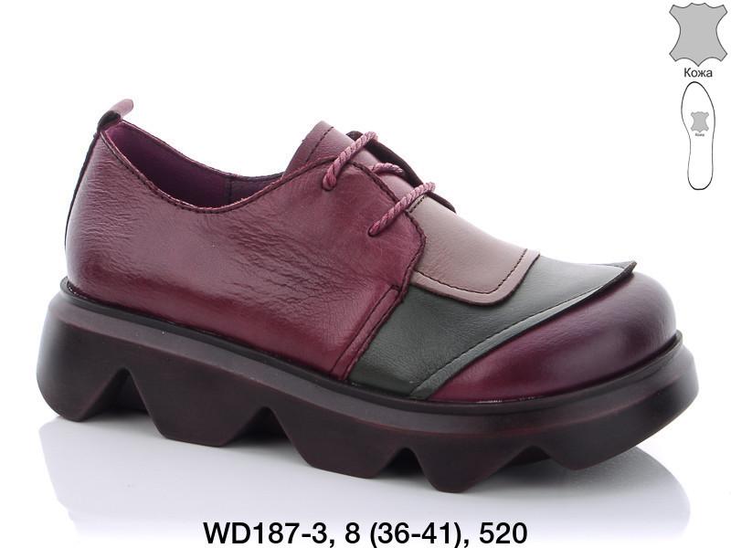 Туфли женские кожаные бордовые Teetspace-Trasta-Egga-WD187-3