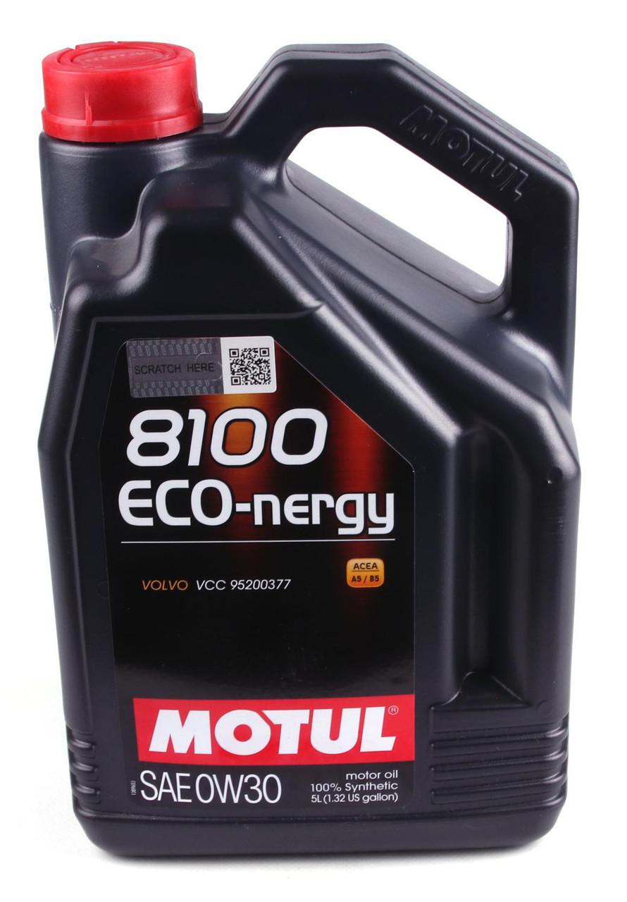 Моторное масло MOTUL 8100 ECO-NERGY 0W30 (5л) АСЕА А5/В5; АPI SL/CF