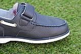 Туфли детские для мальчика кожаные синие р32 - 37, фото 4