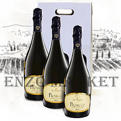 Набор 3 бутылки: Игристое вино La Borghesia Prosecco Brut, 0,75 литра