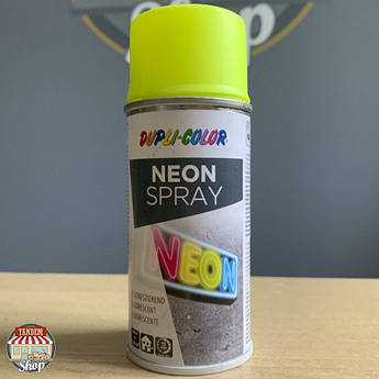 Краска флуоресцентная Dupli Color Neon, 150 мл Аэрозоль Желтый