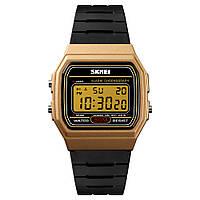Skmei 1412 золотистые с золотым дисплеем мужские спортивные часы, фото 1