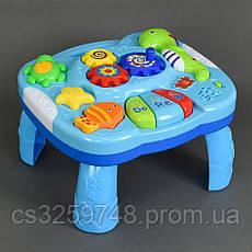 Детский музыкальный развивающий столик 1088 на батарейках, фото 3