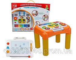 Детский музыкальный центр 6955 А Двусторонний обучающий столик для рисования и игры с песком