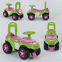 Детская каталка-толокар Автошка Фламинго 0142/U/08 Салатово-розовый