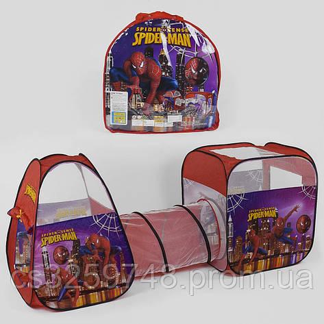 Дитячий ігровий намет з тунелем Супергерой Spider-Man 8015 SP, розмір 270*92*92 см, фото 2