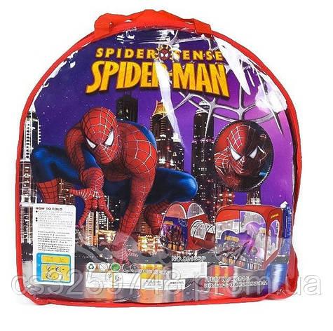 Детская игровая палатка с тоннелем Супергерой Spider-Man 8015 SP, размер 270*92*92 см, фото 2