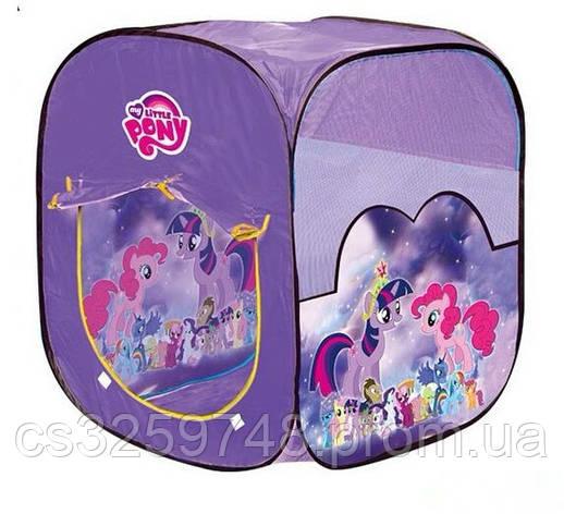 Игровая детская палатка My little pony 8008 PN 92х72х72 см, фото 2