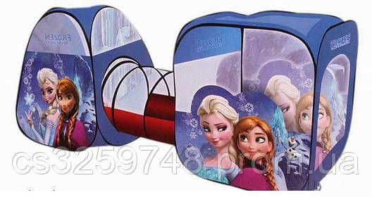Детская игровая палатка-домик с тоннелем для девочки Frozen 8015 FZ-B Фрозен, размер 270*92*92 см, фото 2