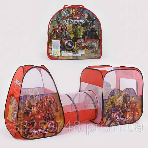 Палатка с туннелем Супергерои 8015 AS (270*92*92 см), фото 2