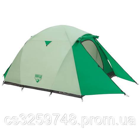 Палатка туристична 68046 (70+200+70)*180*125 см), 3-місна, антимоскітна сітка, сумка, фото 2