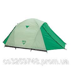 Палатка туристическая 68046 (70+200+70)*180*125 см), 3-местная, антимоскитная сетка, сумка, фото 2