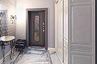 Двері Вхідні ( Плющ 75мм Мідний антик/Венге)