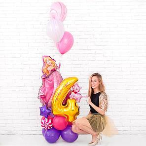 Композиция из воздушных шаров с принцессой Авророй, фото 2