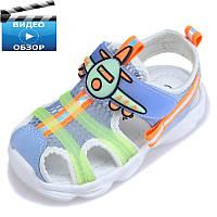 Детские летние босоножки сеточка , легкие модные сандали для мальчика на липучке Hello Mifey 22 - 27 размер