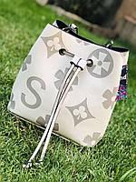 Стильна сумка мішком , на плечі