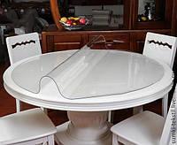 Мягкое стекло Прозрачная силиконовая скатерть на стол Soft Glass Защита для мебели 1.6х1.0м (толщина 1.5мм)