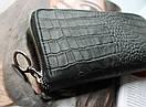 Женский кожаный кошелек с тиснением под крокодила,натуральная кожа, фото 2