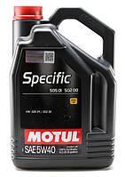 Моторное масло MOTUL SPECIFIC 505.01 502.00 5W40 (5л) для двигателей VOLKSWAGEN. ACEA A3/B4/С3, фото 1