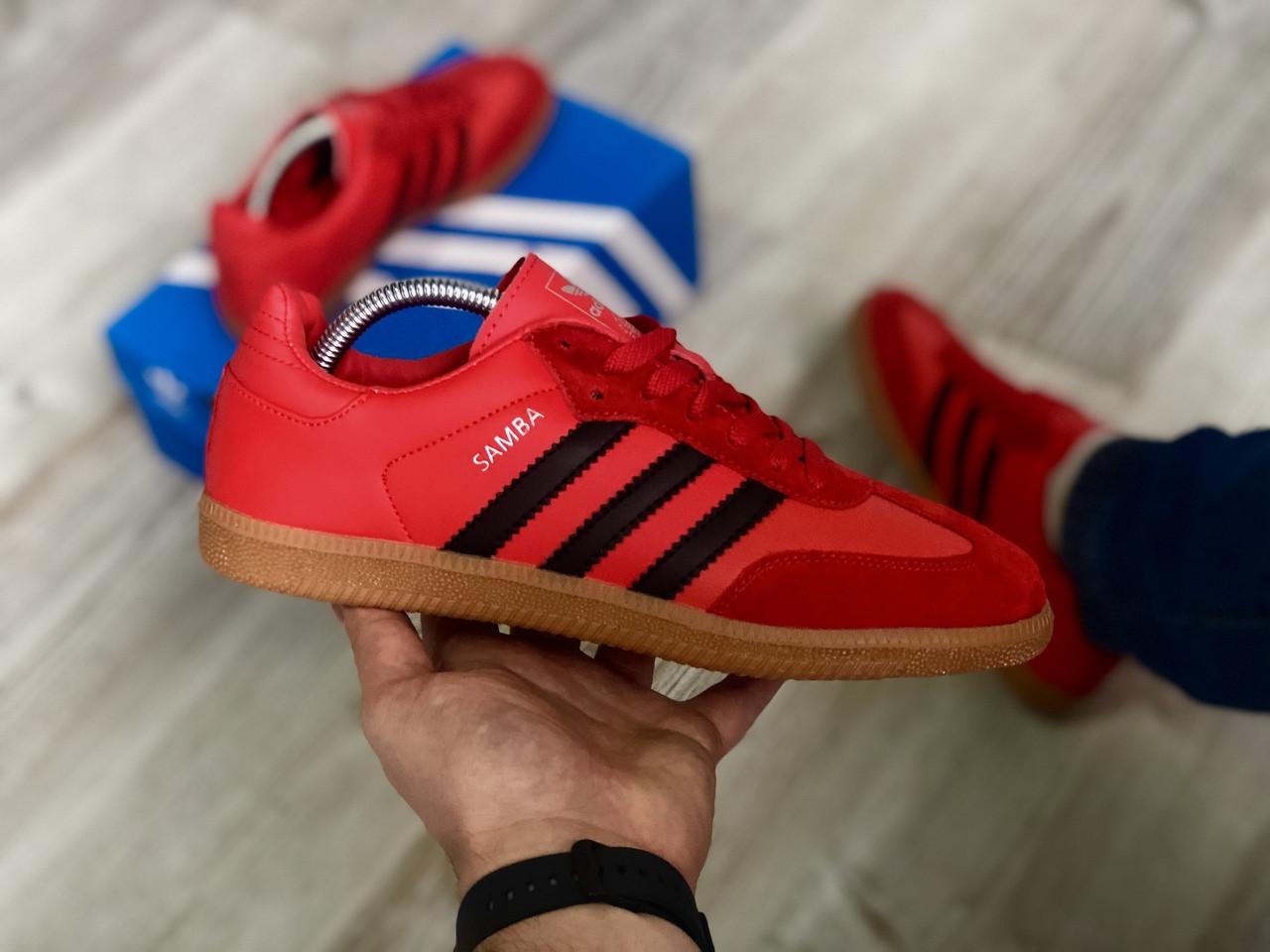 """Кроссовки Adidas Samba """"Красные"""""""