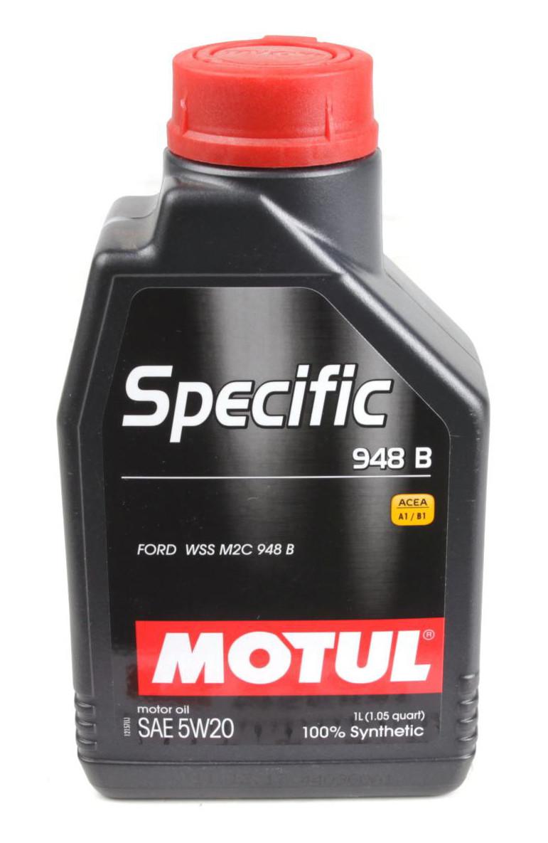 Моторное масло MOTUL SPECIFIC 948 B 5W20 (1л) для двигателей FORD. ACEA A1/B1, С5; API SN