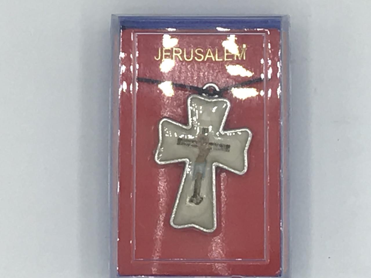 Крестик фигурный с эмалью