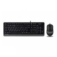 Клавіатура USB + мишка A4Tech F1010 Black/Grey