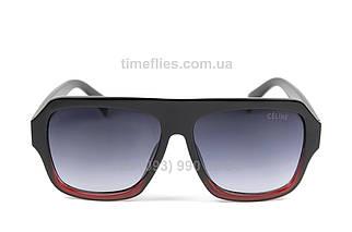 Жіночі квадратні сонцезахисні окуляри Celine Чорні в чорно-червоній оправі AAA Copy