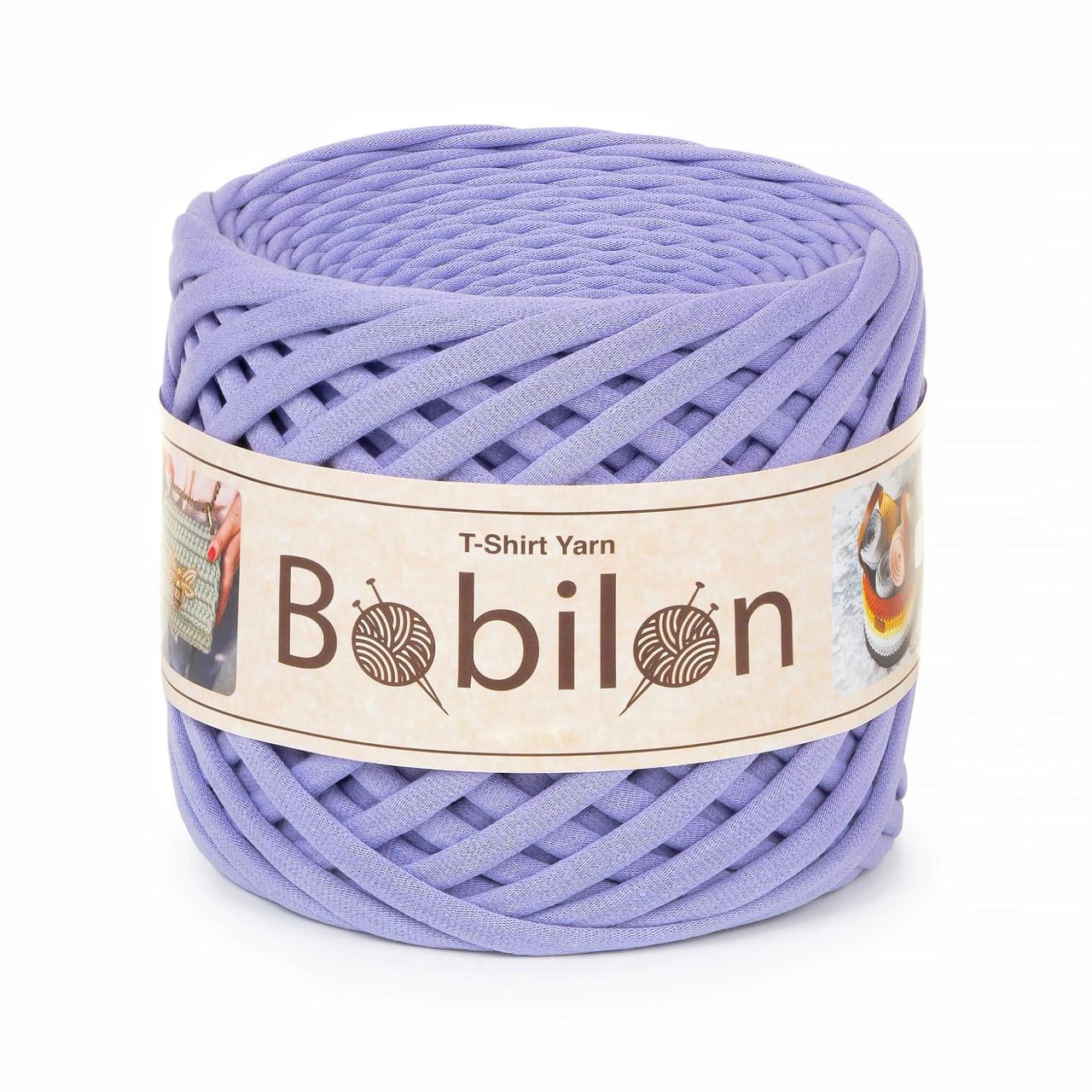 Трикотажная пряжа Bobilon Medium (7-9 мм). Lavender new Лаванда
