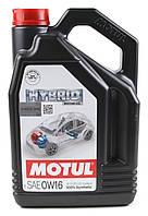 Моторное масло MOTUL HYBRID 0W16 (4л) для автомобилей с гибридной силовой установкой. API SN