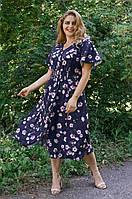 Легкое летнее платье из софта Илона