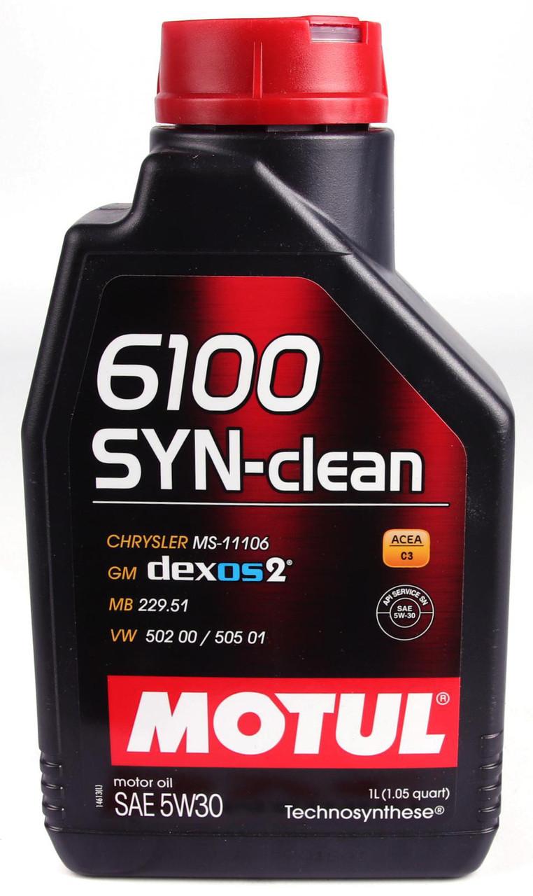 Моторное масло MOTUL 6100 SYN-CLEAN 5W30 (1л) ACEA C3, API SN