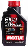 Моторное масло MOTUL 6100 SYN-CLEAN 5W30 (1л) ACEA C3, API SN, фото 1