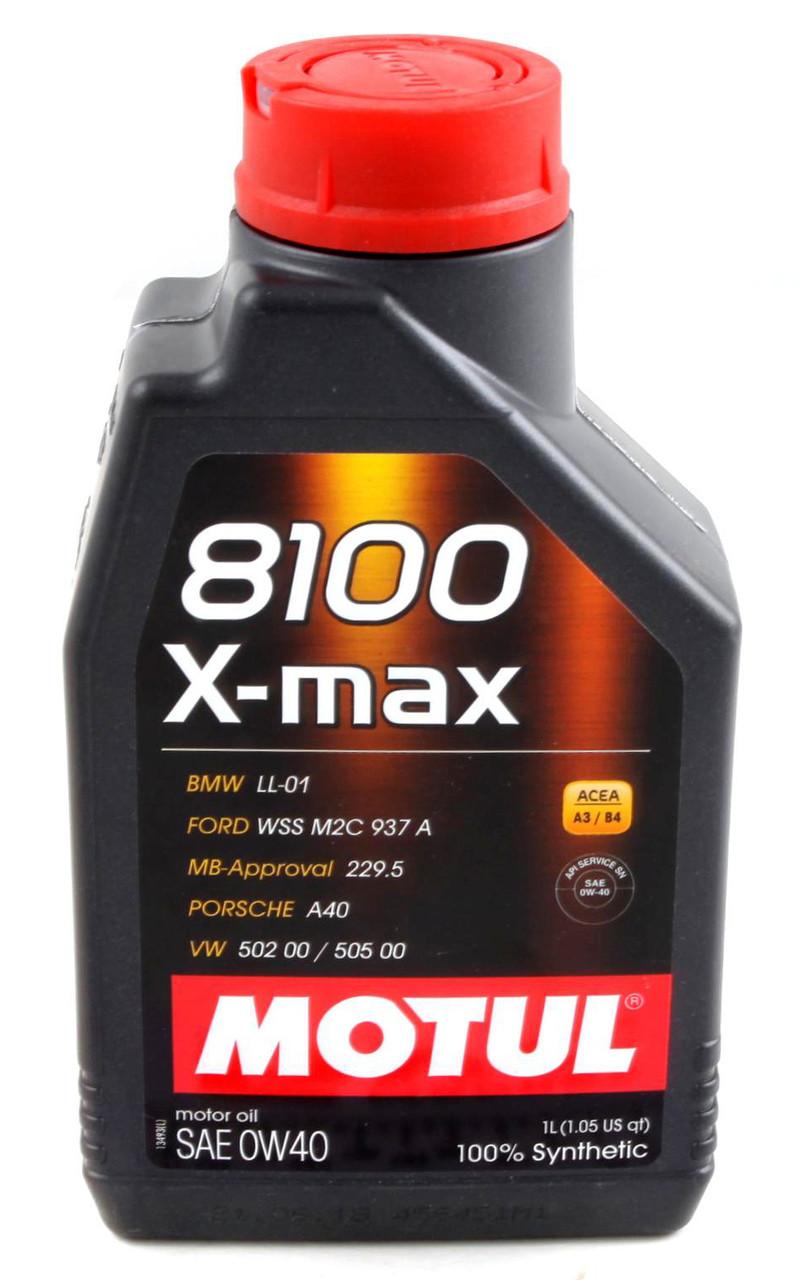Моторное масло MOTUL 8100 X-max 0W40 (1л) ACEA A3/B4; API SN