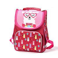 Каркасный школьный рюкзак для девочки (1-4 класса), ортопедический