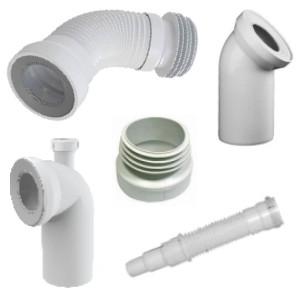Аксессуары для канализации (соединения для унитазов WC, штуцера), Польша