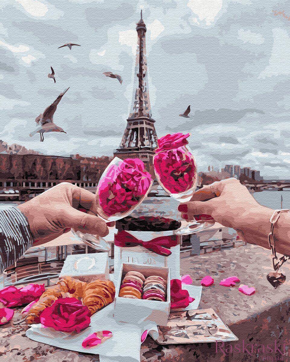 Картина по номерам Доброе утро в Париже (BK-GX34598) 40 х 50 см